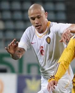 Radja Nainggolan con la maglia della nazionale belga - fonte Wikipedia