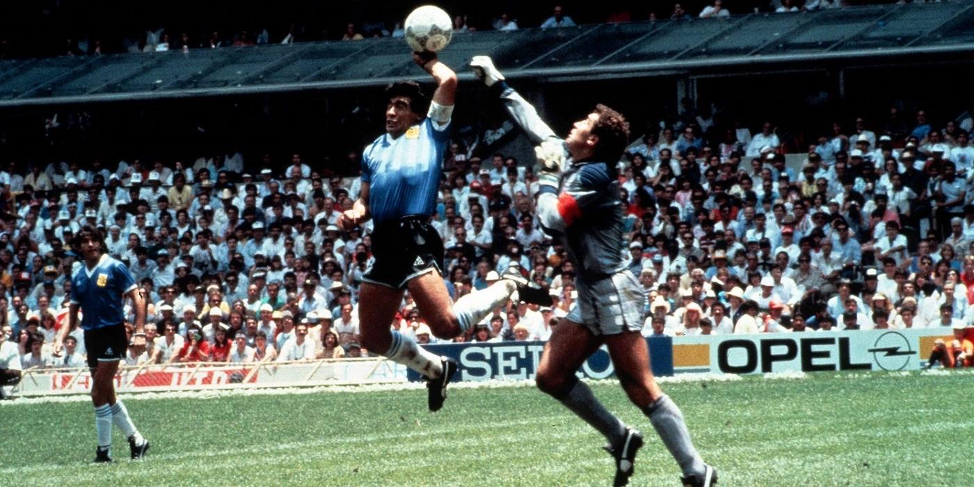 Maradona e la mano de Dios