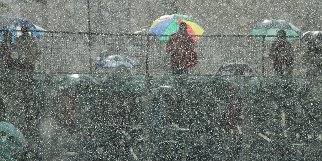 Pioggia allo stadio - fonte Flickr Marco Gubbini