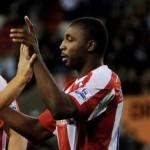 Vincent Péricard con la maglia dello Stoke City
