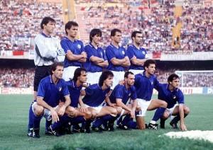 Gli azzurri in campo al San Paolo - fonte it.wikipedia.org