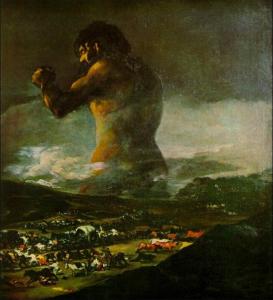 La nazionale tedesca vista dagli argentini (Il colosso di Goya o di Julia - fonte arteworld.it)